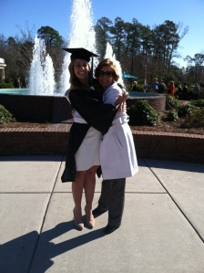Rachel and Her Mom at college graduation