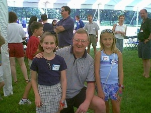 Caelin and Rachel with Dr. Gearhart at Johns Hopkins Exstrophy Picnic