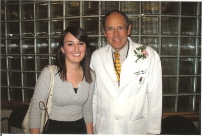 Jessica with Dr. Mitchell