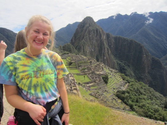 Kylee Hunter at Macchu Picchu, Peru