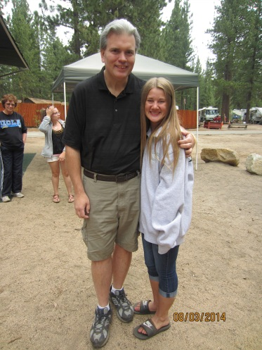 Kylee Hunter and Thomas Exker at the B.E.S.T. Campout