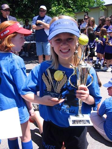 kylee-softball-trophies